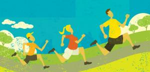 afvallen met hardlopen illustratie