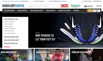 hardloopshop.nl website
