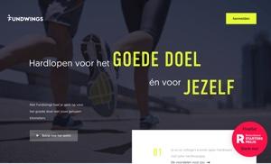 fundwings website rennen voor goede doelen