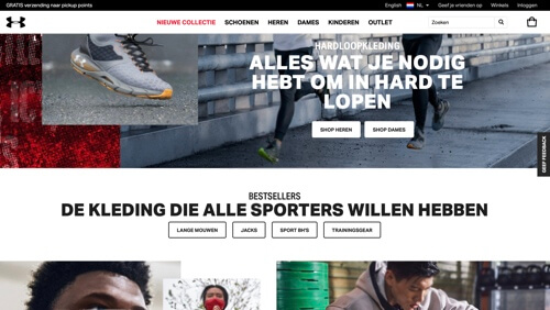 under armour hardlopen website