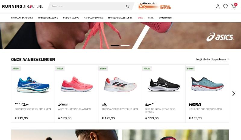 RunningDirect.nl website